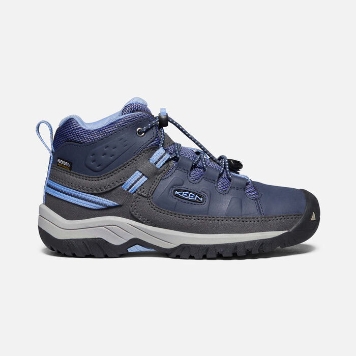 Younger Kids' Targhee Waterproof Hiking Boots in Blue Nights/Della Blue - large view.