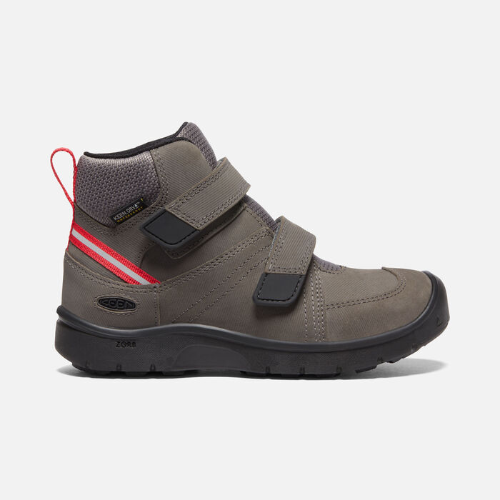 Older Kids' Hikeport 2 Mid Strap Waterproof Trainer Boots in Magnet/Red Carpet - large view.
