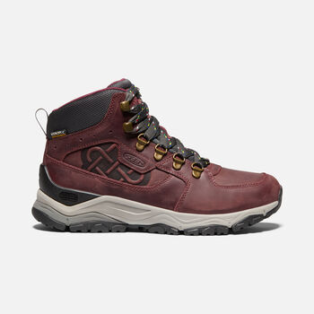 Women's Innate Leather Waterproof Ltd Hiking Boots in BURGUNDY/SHARK - large view.