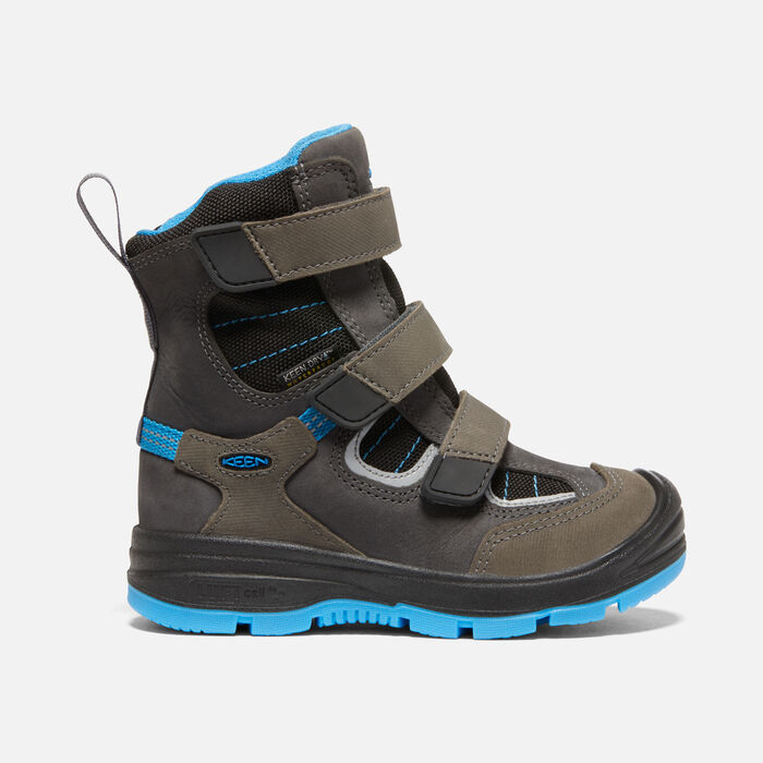 Younger Kids' Redwood Winter Waterproof Boots in Raven/Magnet - large view.