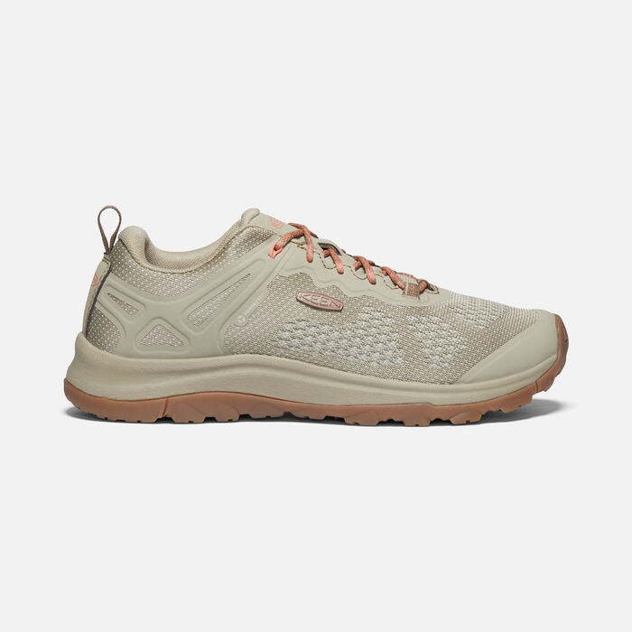 Women's Terradora II Vent Hiking Trainers in Plaza Taupe/Coral - large view.