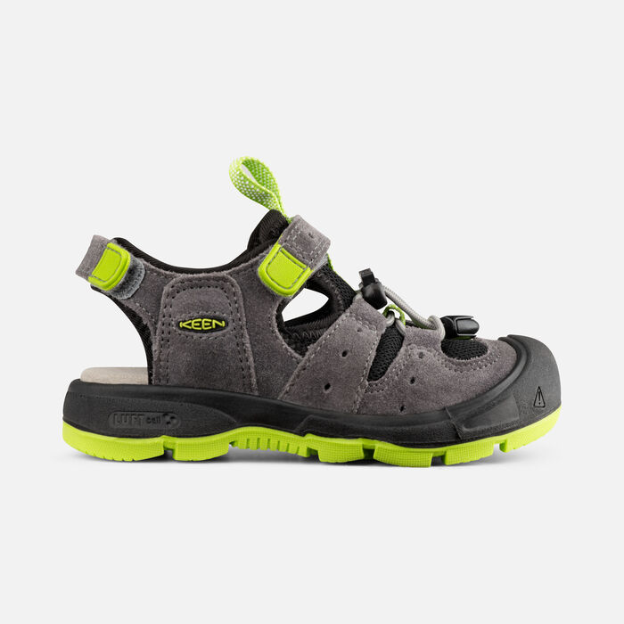 Younger Kids' Balboa Sandals in Steel Grey/Chartreuse - large view.