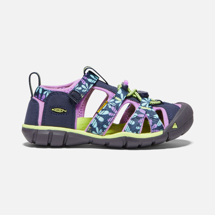 Younger Kids' Seacamp II Cnx Sandals in Black Iris/African Violet - large view.