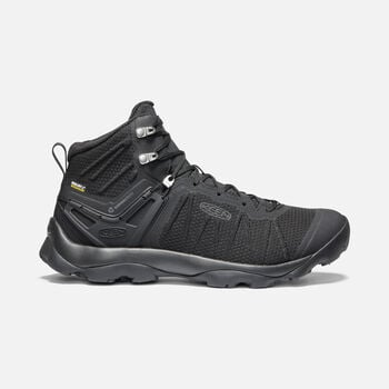 Men's Venture Waterproof Mid Hiking Boots in BLACK/BLACK - large view.