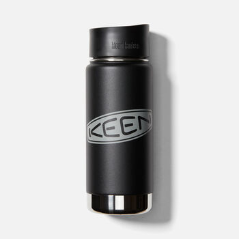 Wide Mouthed Waterbottle 16oz. in SHALE BLACK - large view.