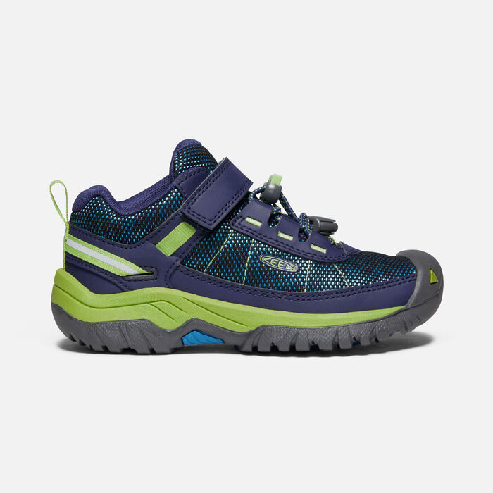 Younger Kids' Targhee Sport Vent Hiking Shoes in Blue Depths/Chartreuse - large view.