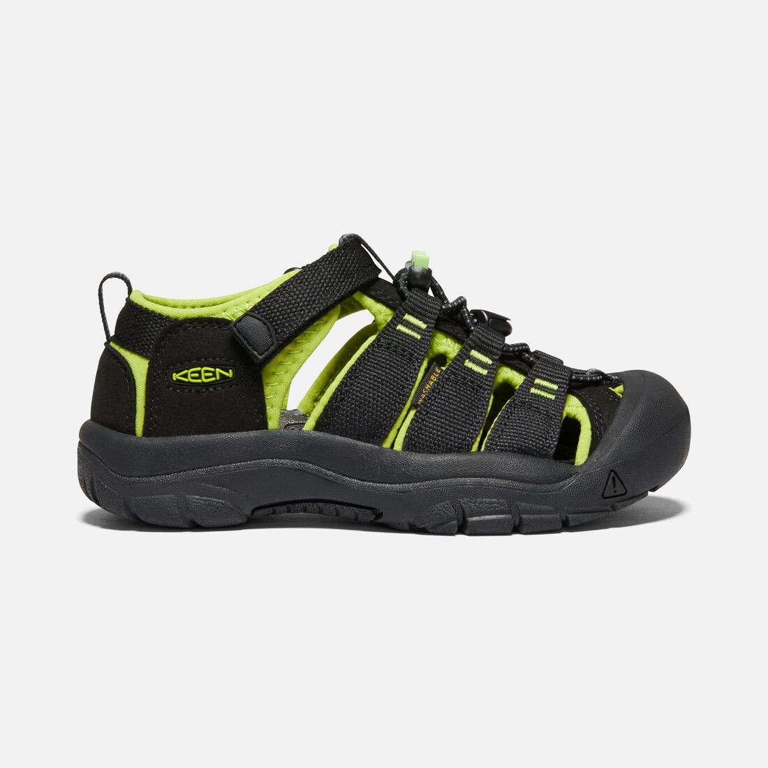 Big Kids' Newport H2 in Black/Lime Green - large view.