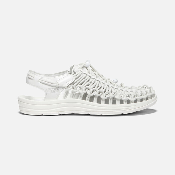 Women's UNEEK Premium Leather in White - large view.