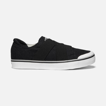 Women's Elsa Iii-Gore-Slip-On Casual Trainers in BLACK - large view.