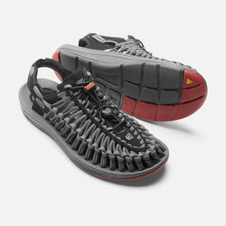 MEN'S UNEEK FLAT CORD in Black/Bossa Nova - small view.
