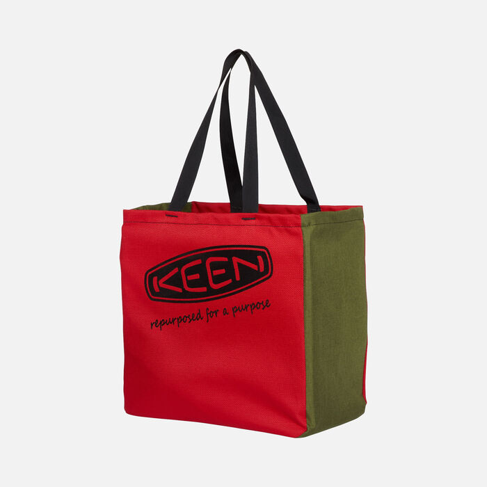 KEEN Tote Bag in RED/GREEN - large view.