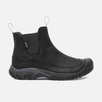 Men's ANCHORAGE III Waterproof Boot in Black/Raven - large view.
