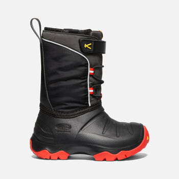 Little Kids' LUMI Waterproof Winter Boot in BRIGHT RED/BLACK - large view.