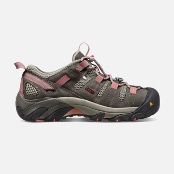 Women's Atlanta Cool ESD (Soft Toe) in Gargoyle/Hot Coral - large view.