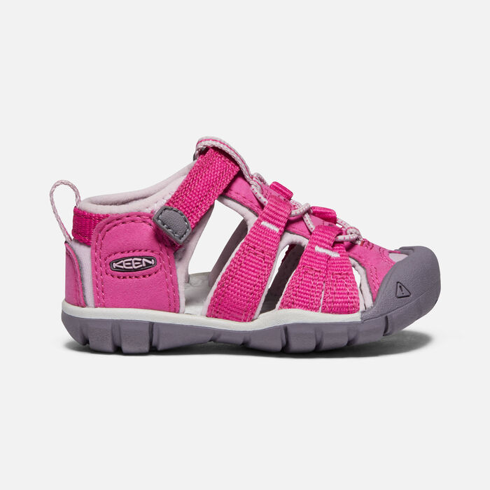 Toddlers' Seacamp II Cnx Sandals in Very Berry/Dawn Pink - large view.