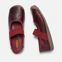 Women's Sienna Leather Mary Jane in Cinnamon Roll/Syrah - small view.