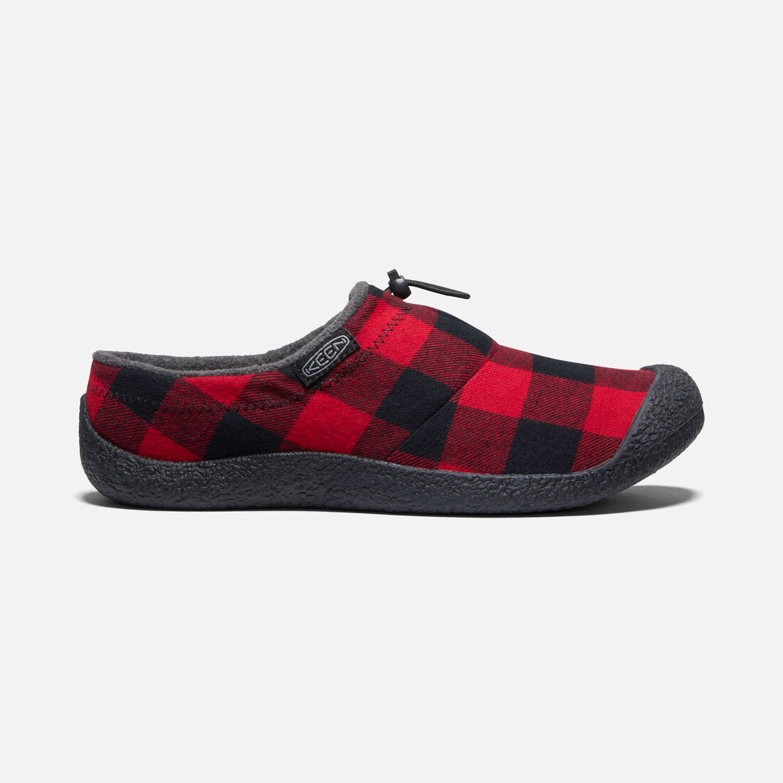 Men's Howser III Slide in Red Plaid/Black - large view.