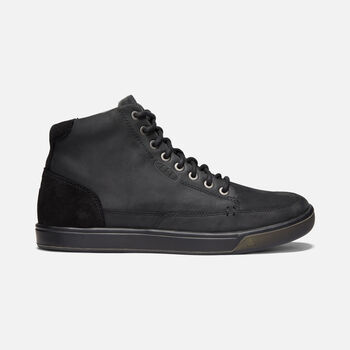 Men's Glenhaven Mid Casual Trainers in BLACK/BLACK - large view.
