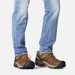 Men's Flint Low (Steel Toe) in  - on-body view.