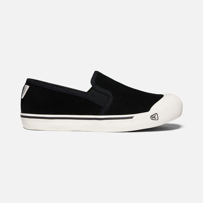 Women's Coronado III Suede Slip-On in BLACK - large view.