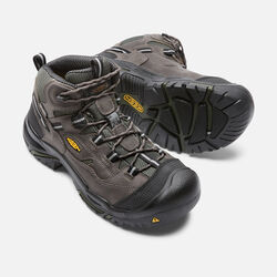 Men's Braddock Waterproof Mid (Steel Toe) in Gargoyle/Forest  Night - small view.