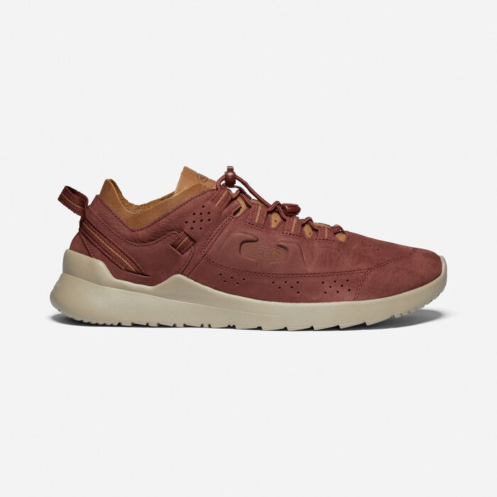 Men's Highland Casual Trainers in Cherry Mahogany/Plaza Taupe - large view.