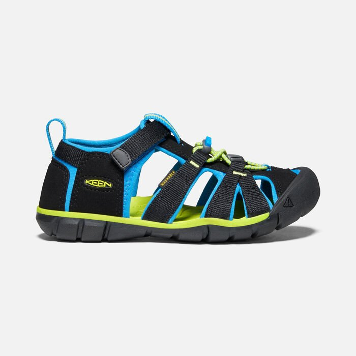 Younger Kids' Seacamp II Cnx Sandals in Black/Brilliant Blue - large view.