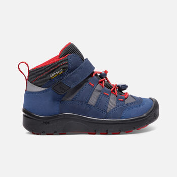 YOUNGER KIDS' HIKEPORT MID WATERPROOF HIKING BOOTS in Dress Blues/Fiery Red - large view.