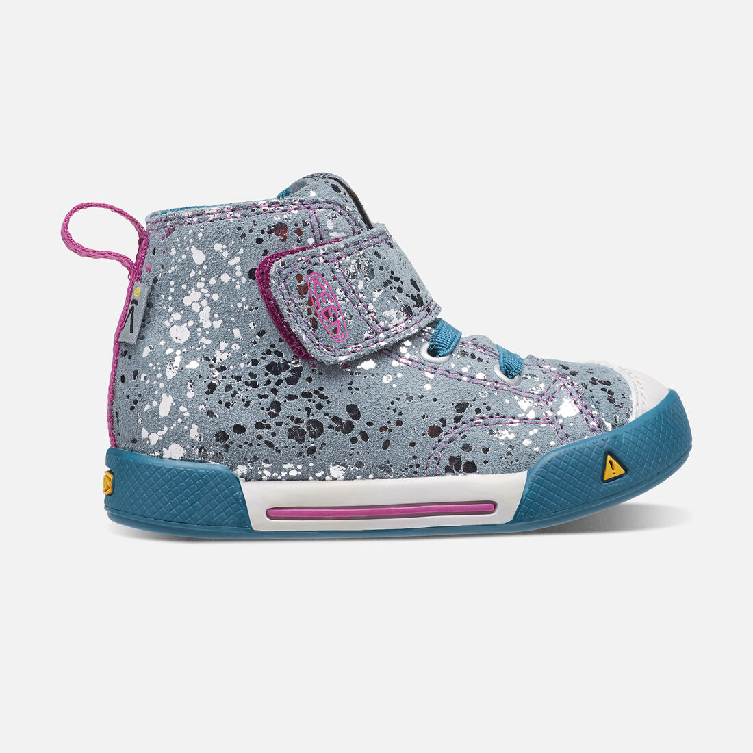 Toddlers' Encanto Scout High Top in Silver Splatter/Purple Wine - large view.