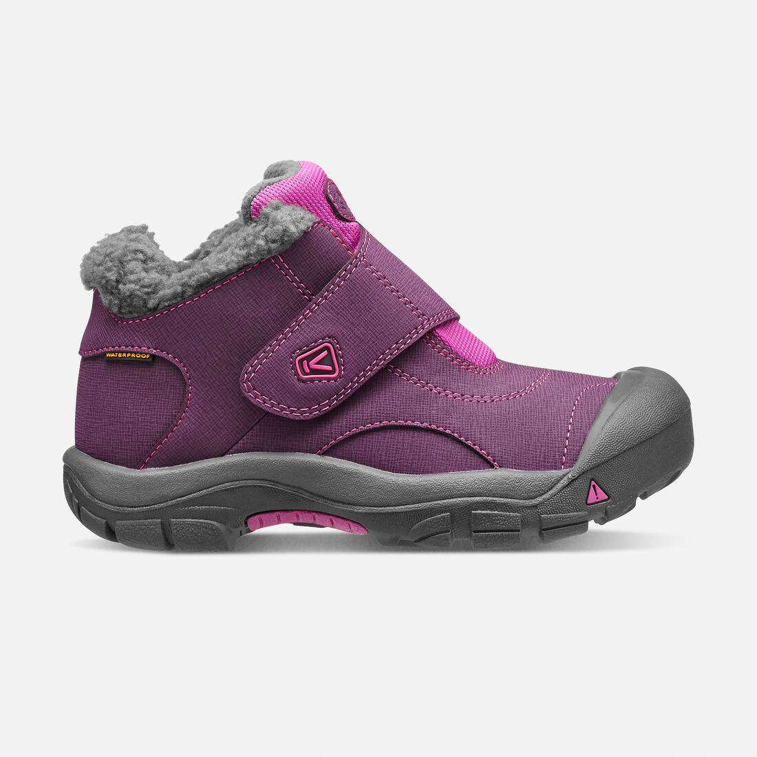 Little Kids' Kootenay Waterproof Boot in Wineberry/Dahlia Mauve - large view.