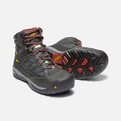 Men's CSA Doverland Waterproof Mid (Steel Toe) in Magnet/Chili Pepper - small view.