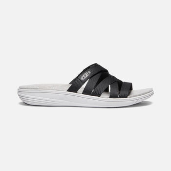 Women's DAMAYA SLIDE in BLACK/VAPOR BLUE - large view.