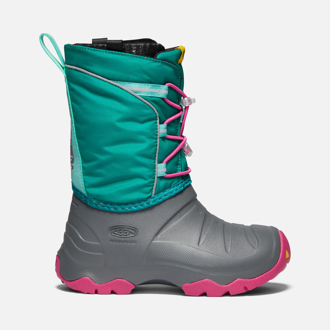 Big Kids' LUMI Waterproof Winter Boot in PARASAILING/DUSTY AQUA - large view.