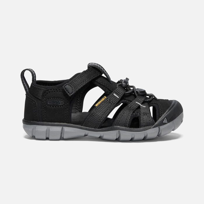 Younger Kids' Seacamp II Cnx Sandals in BLACK/STEEL GREY - large view.