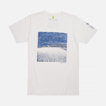 Men's Mojave Trails, CA T-Shirt in White - large view.
