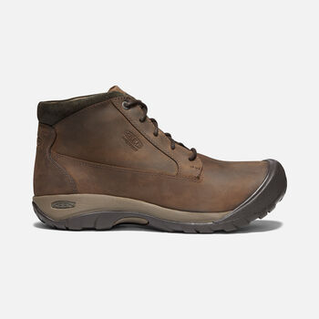 Men's Austin Casual Waterproof Boot in CHOCOLATE BROWN/BLACK OLIVE - large view.