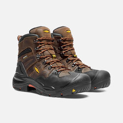 "Men's COBURG 6"" Waterproof Boot (Steel Toe) in Cascade Brown/Brindle - small view."