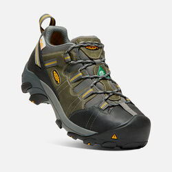CSA Oshawa Low (Steel Toe) pour homme in Black/Green - small view.