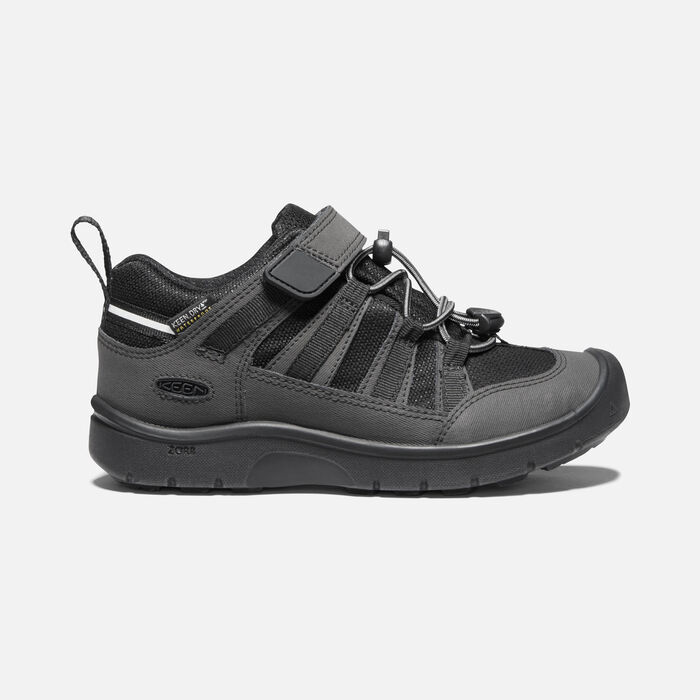 Older Kids' Hikeport II Waterproof Hiking Trainers in Black/Black - large view.