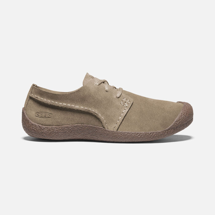 Men's Howser Suede Oxford Shoes in Timberwolf/Chestnut - large view.