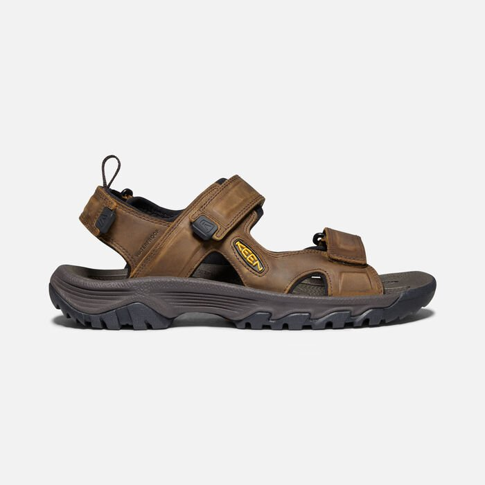 TARGHEE III OPEN-TOE SANDAL POUR HOMME in Bison/Mulch - large view.