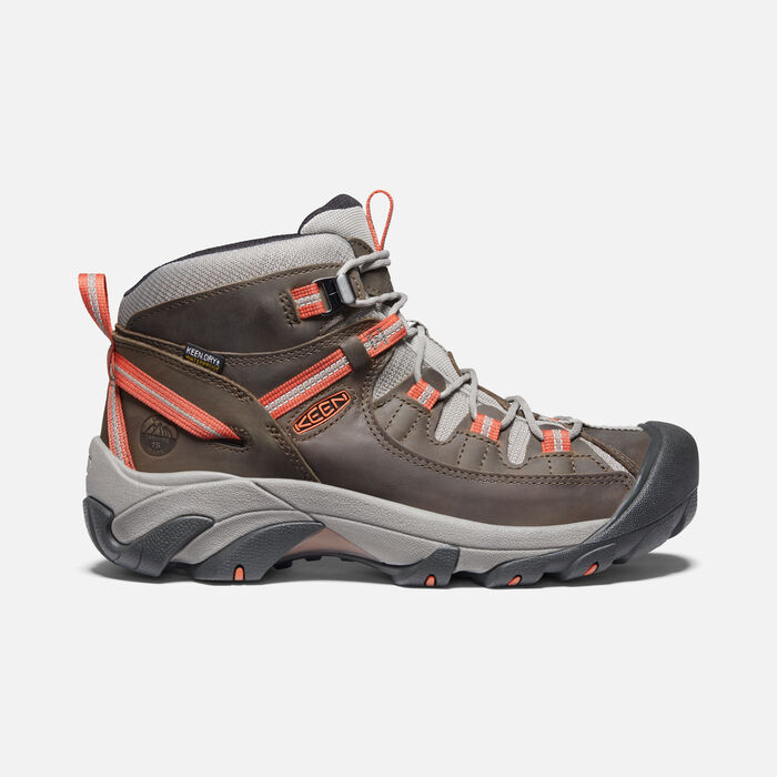 Men's Targhee II Waterproof Mid in Shadow/Burnt Ochre - large view.