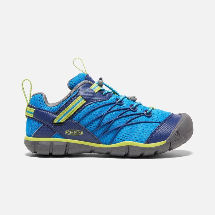 Older Kids' Chandler Cnx Trainers in Brilliant Blue/Blue Depths - large view.