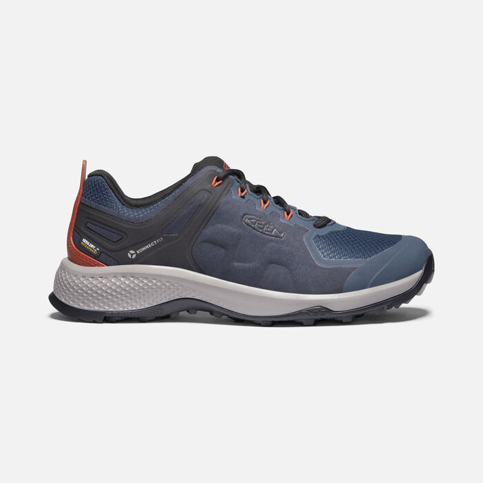 Men's Explore Waterproof Hiking Shoes in Blue Nights/Picante - large view.