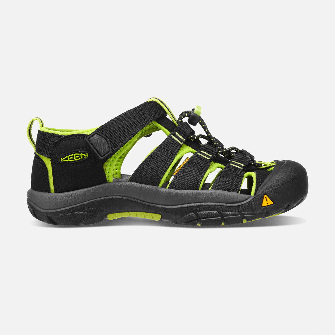 8586cfabb0b0 Big Kids  Newport H2 in BLACK LIME GREEN - large view.