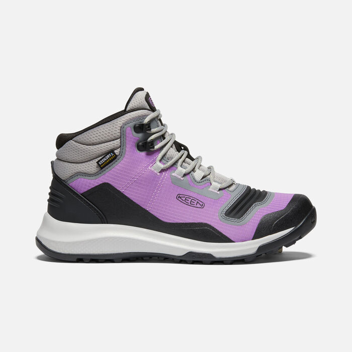 Women's Tempo Flex Waterproof Hiking Trainer Boots in African Violet/Sharp Green - large view.