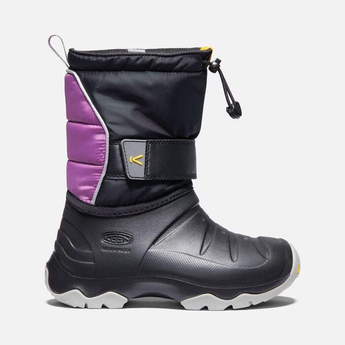 Big Kids' Lumi II Waterproof Boot in Black/Wood Violet - large view.