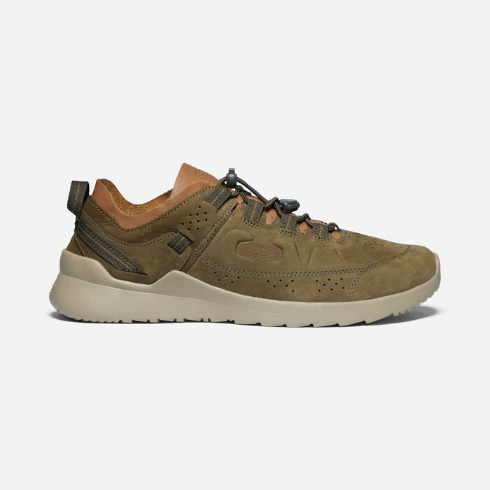 Men's Highland Casual Trainers in Dark Olive/Plaza Taupe - large view.