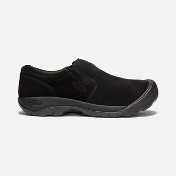 Men's Austin Casual Suede Slip-On in BLACK - large view.
