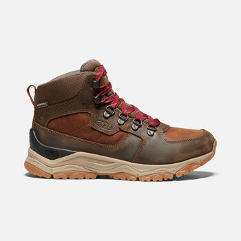 Women's Innate Leather Waterproof Hiking Boots in PRALINE/CHERRY - large view.